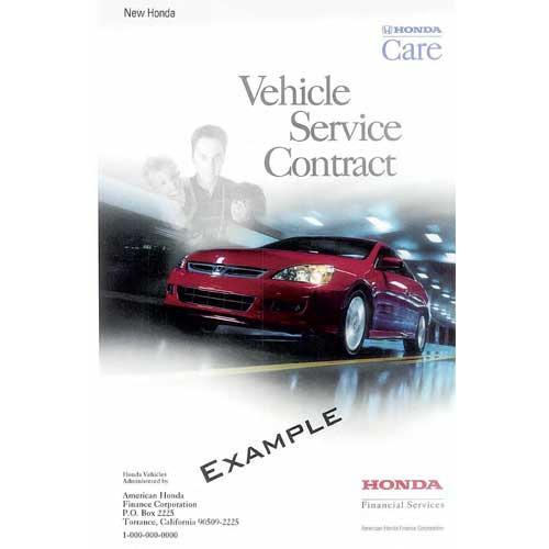 Honda care booklet